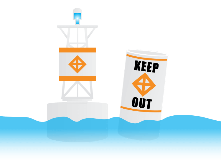 Keep-Out Markers (Diamond + Cross)