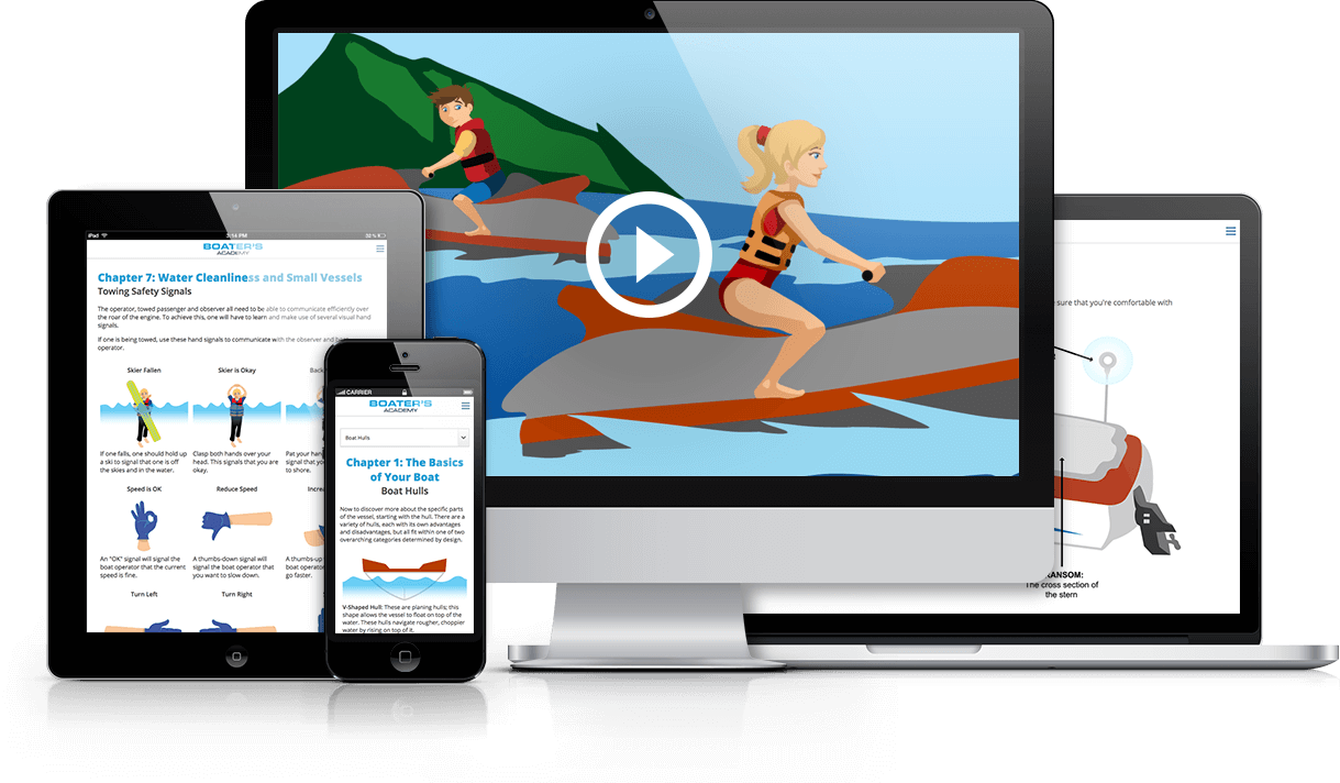 Boat and personal watercraft online safety course. The easiest way to get your boating license.